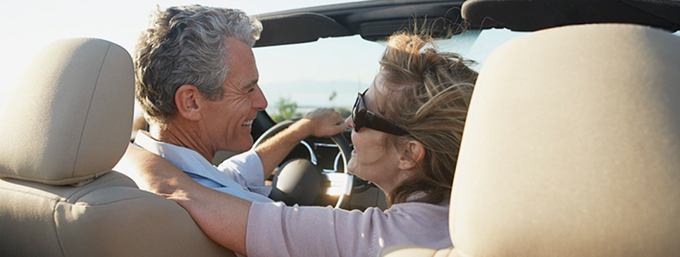 Hearing Aid Patient - Couple on a Drive